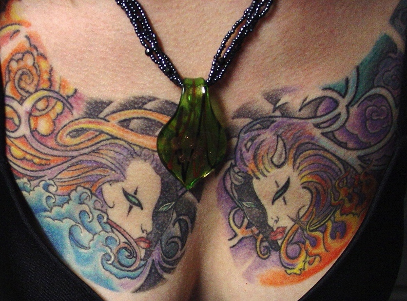 To view Darlene's Scarab and Kabuki tattoos, be sure to visit the Kabuki
