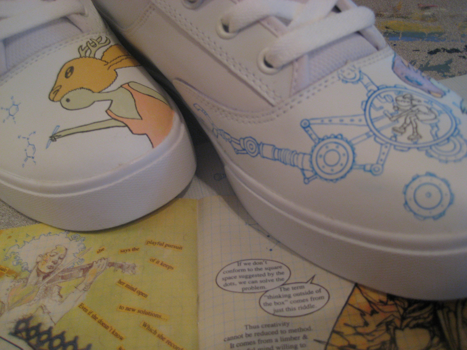 Thanks To David Mack For Sharing The Following Highresolution Photos Of  His Customized Etnies, Which Will Be Auctioned Off By Theic Book Legal  Defense